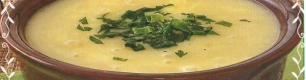 Sopa cremosa com queijo 001