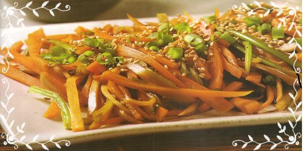 Salada oriental de cenoura